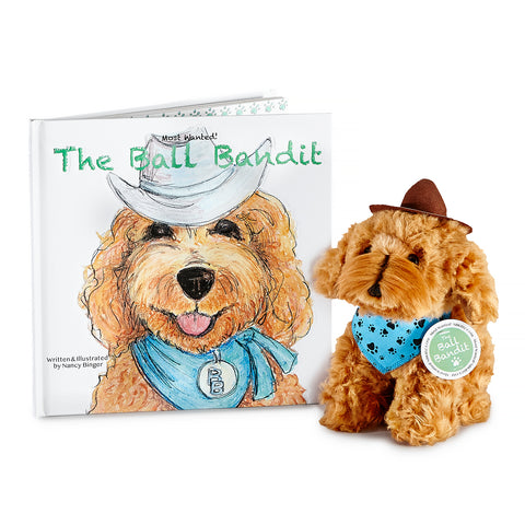 Most Wanted! The Ball Bandit Book and Plush Pup Set