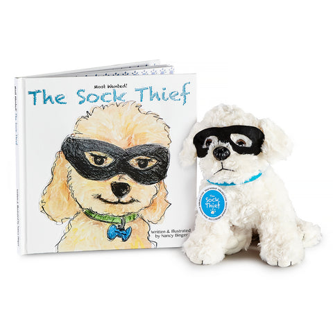 Most Wanted! The Sock Thief - Book and Plush Pup Set