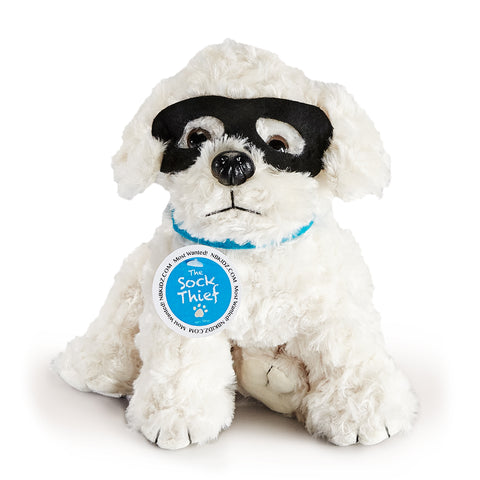 Most Wanted!  The Sock Thief Plush Pup