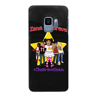 THE BRAVE TEAM Back Printed Black Hard Phone Case