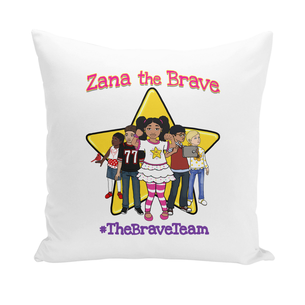 THE BRAVE TEAM Throw Pillows