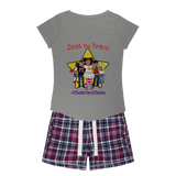 THE BRAVE TEAM Womens Sleepy Tee and Flannel Short