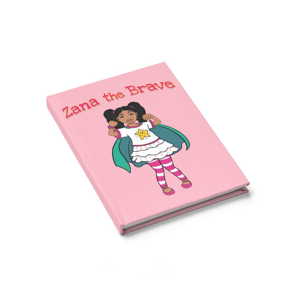 Zana The Brave NEW Journal - Ruled Line (Pink)