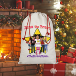 THE BRAVE TEAM Sublimation Linen Drawstring Sack