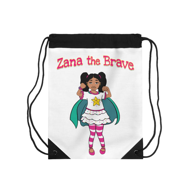 Zana the Brave NEW Drawstring Bag - White