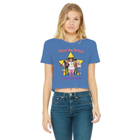 THE BRAVE TEAM Classic Women's Cropped Raw Edge T-Shirt
