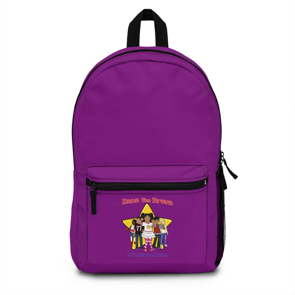THE BRAVE TEAM Backpack (Made in USA) - Purple