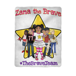 THE BRAVE TEAM Sublimation Baby Blanket