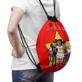 THE BRAVE TEAM Drawstring Bag - Red