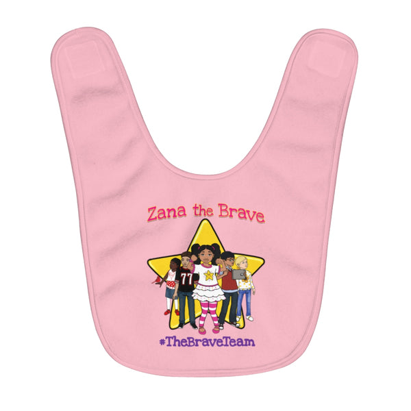 THE BRAVE TEAM Fleece Baby Bib (PINK)