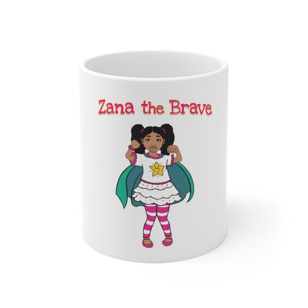 Zana The Brave NEW White Ceramic Mug