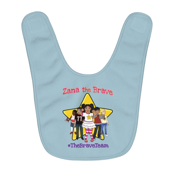 THE BRAVE TEAM Fleece Baby Bib (BLUE)