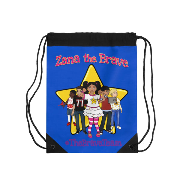 THE BRAVE TEAM Drawstring Bag - Blueberry