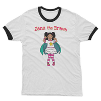 Zana the Brave NEW Adult Ringer T-Shirt