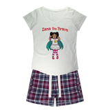Zana the Brave NEW Girls Sleepy Tee and Flannel Short
