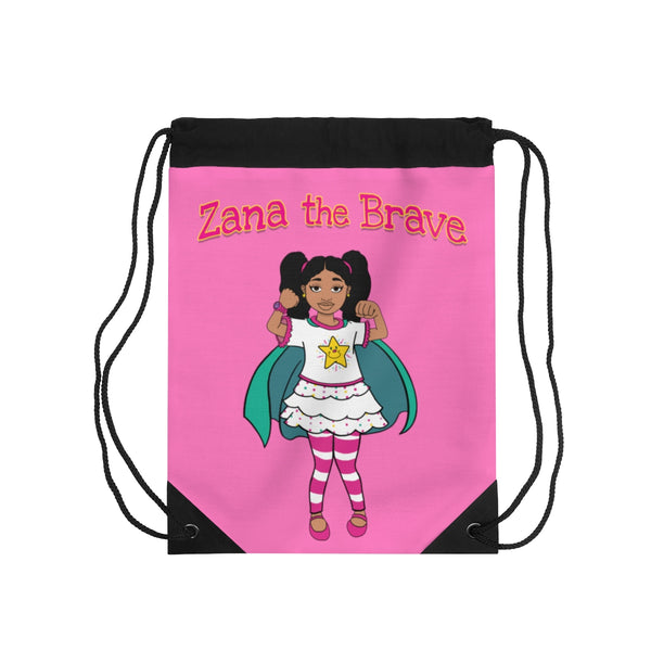 Zana the Brave NEW Drawstring Bag - Hot Pink