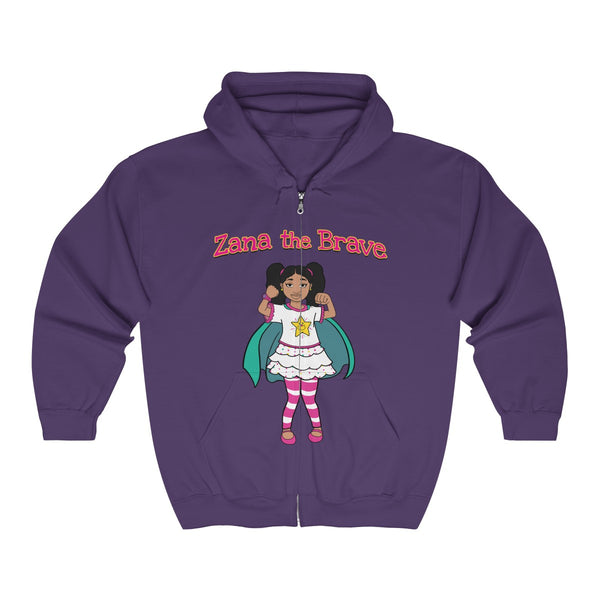 Zana the Brave NEW - Adult Unisex Heavy Blend™ Full Zip Hooded Sweatshirt