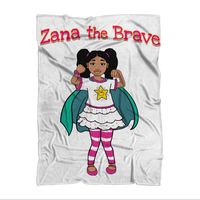 Zana the Brave NEW Sublimation Throw Blanket