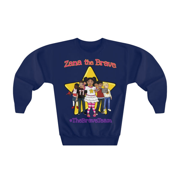 THE BRAVE TEAM - Youth Crewneck Sweatshirt