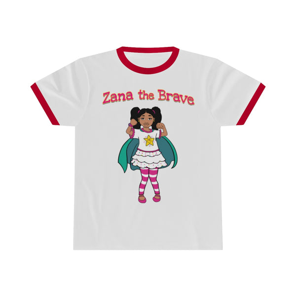 Zana the Brave NEW - Adult Unisex Ringer Tee