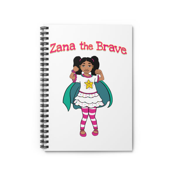 Zana The Brave NEW Spiral Notebook - Ruled Line