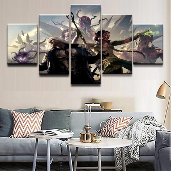 Modern Canvas Wall Art Pictures Modular Paintings 5 Pieces
