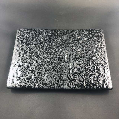 SH Onyx Rectangular Platter 24cm Textured - Black