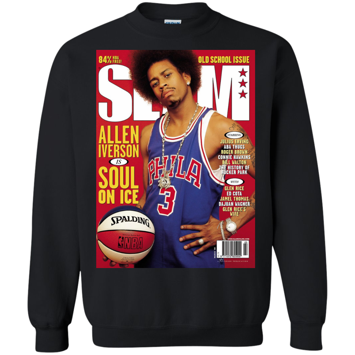 los angeles a3d10 14cb3 Allen Iverson SLAM Cover T-Shirt - AI Shirt - BambooTee Store