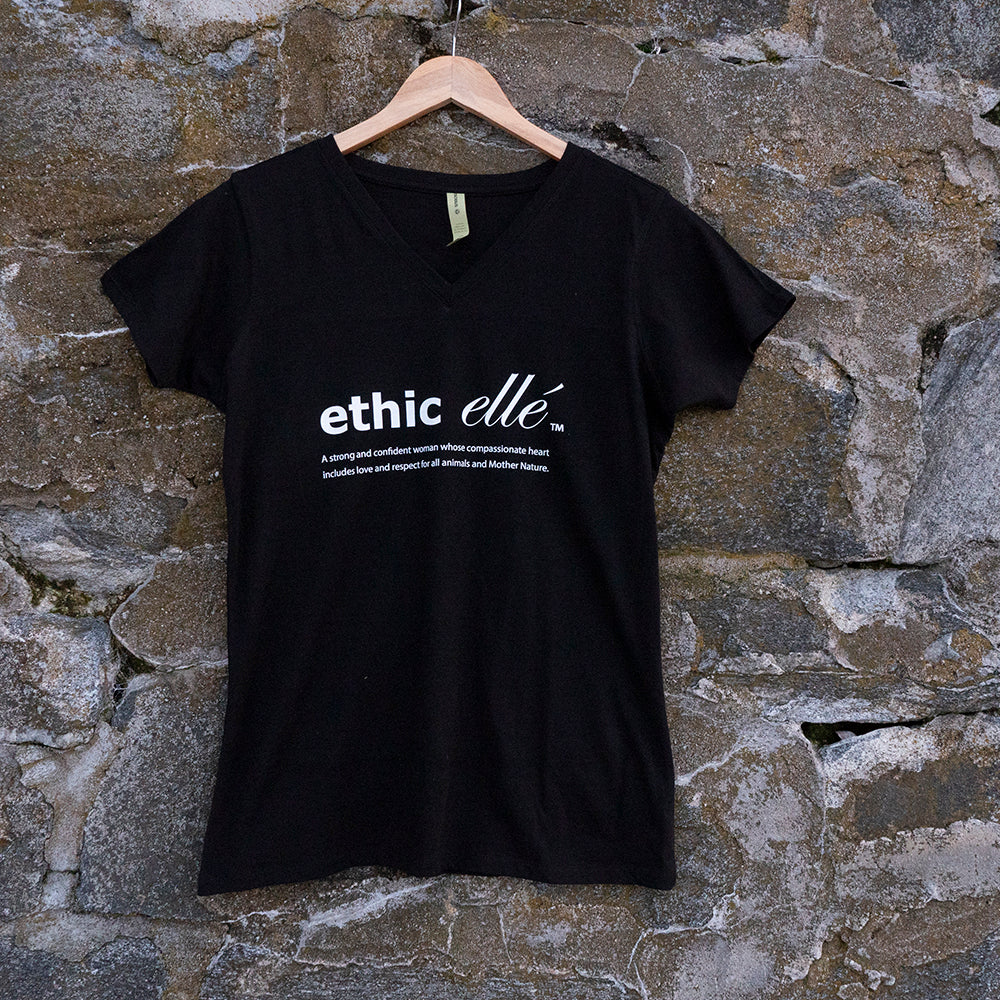ethic ellé women's v-neck t-shirt