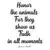 Honor the animals - Women's - Long Sleeve