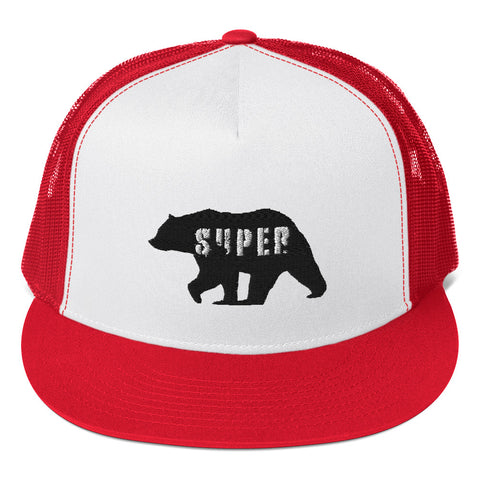 SuperBear Black Bear Trucker Cap