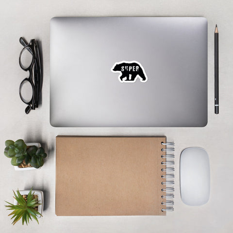 SuperBear Black Bear Stickers