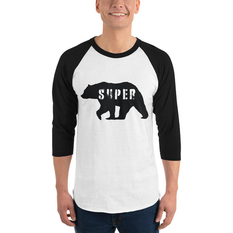 SuperBear Black Bear 3/4 Sleeve Shirt