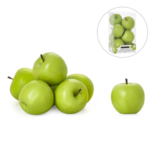Luxe Curated | Faux Fruit Apples - Set of 8 Apple