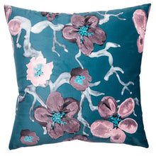 Load image into Gallery viewer, Sakura Accent Cushion, Blue