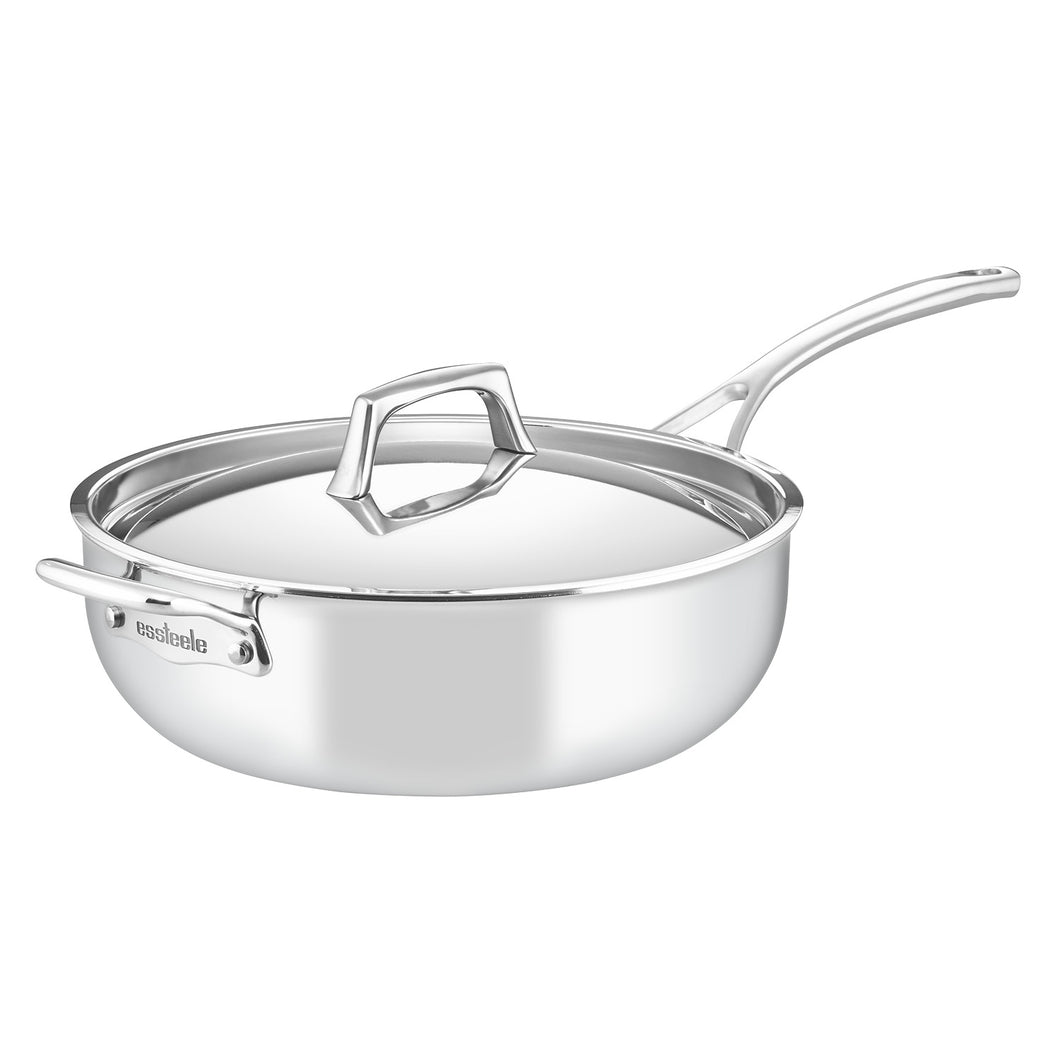 Essteele | Per Sempre 4.7L Chef's Pan w/helper handle and cover