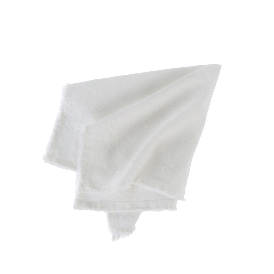 Frayed Edge Napkin, Ivory
