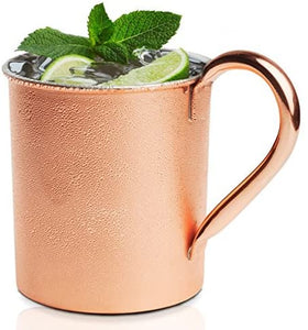 Brilliant | Moscow Mule Copper and Stainless Steel Straight Shaped Mug 20oz