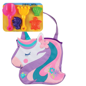 Beach Tote with Sand Toys, Unicorn