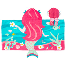Load image into Gallery viewer, Fun Themed Hooded Towel, Mermaid