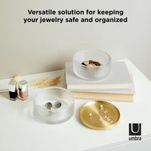 Load image into Gallery viewer, Umbra | Tesora Jewelry Box Glass, Brass