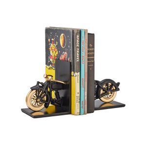 Pendulux | Motorcycle Bookends Black