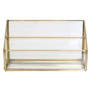 Luxe Curated | Letter Holder Brass