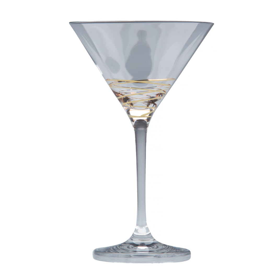 Brilliant | Swing Gold, Martini Wine Glass