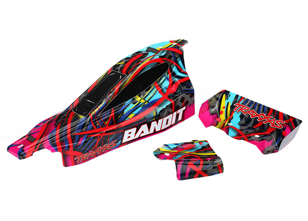 Traxxas Body, Bandit, Hawaiian graphics (painted, decals applied)