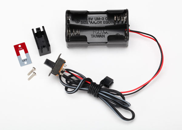 Traxxas Battery holder, 4-cell/ on-off switch