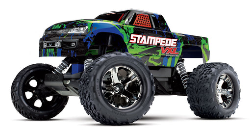 Traxxas Stampede VXL:  1/10 Scale Monster Truck with TQi & TSM, Green
