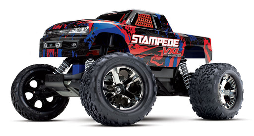 Traxxas Stampede VXL:  1/10 Scale Monster Truck with TQi & TSM, Red