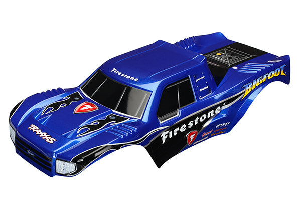 Traxxas Body, Bigfoot® Firestone, Officially Licensed replica (painted, decals applied)