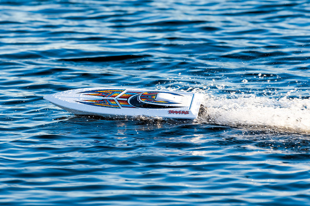 Traxxas Blast: High Performance Race Boat. Ready-To-Race with TQ 2.4GHz radio system. ORANGE